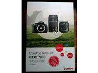 Canon EOS 700d double lens kit
