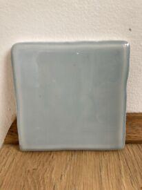 Lovely light blue gloss square tiles