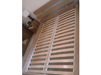 Double Bed frame 140cm x 200cm, and mattress