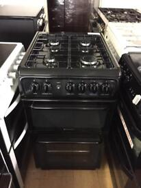 Hotpoint Black 50cm gas cooker