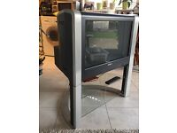 """Secondhand Sony 26"""" colour TV on integrated stand"""