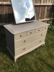 Up Cycled Vintage Stag Dressing Table/Chest of Drawers (Can Deliver)
