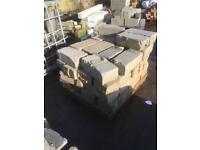 "Used reclaimed 6"" concrete blocks bricks heavy duty"