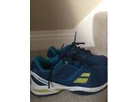 Babolat dark blue childrens tennis shoes