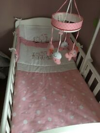 Red kite pink bedding set for cot cotbed