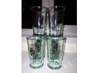 6 BACARDI GLASSES