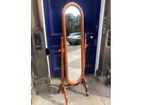 Cheval Mirror- wooden frame Size - W 60cm D 43cm H 170cm