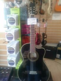 Aria nylon Electro acoustic AK30CETN in black