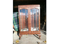 Beautiful mahogany display cabinet with glass locking doors (with key) in good condition.