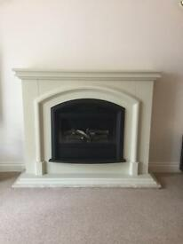 Electric Flame effect fire with surround