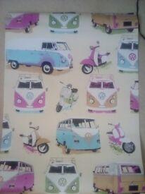 Camper wallpaper roll campervan VW paper