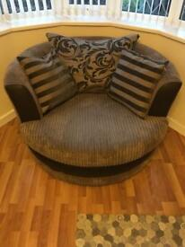 Cuddle chair & footstool