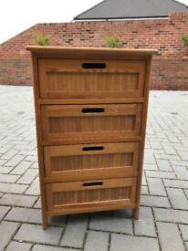 Small Oak colour wood set of draws