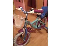 Frozen bicycle with stabilisers