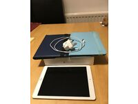 apple iPad Air 2 64gb, white and gold, excellent condition, with box and charger, also two cases.