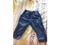 Girls 9yr Next Denim Look Harem (3/4) Trousers, good conditon from pet and smoke free home