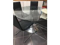 Modern dinning table and six chairs £140