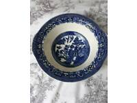 Blue willow bowl