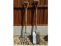 Garden Spade & Fork - Stainless Steel