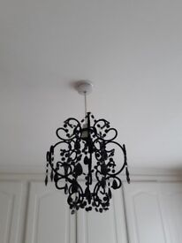 Black Chandelier style ceiling light shade