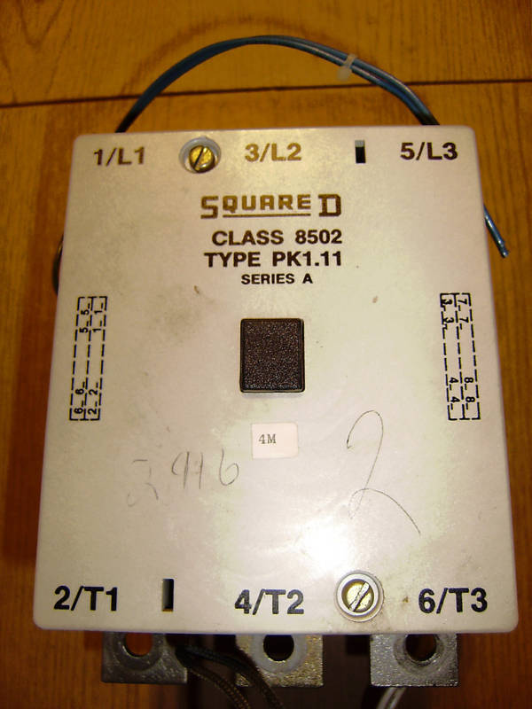 Square D CLASS 8502 TYPE PK1.11 200A CONTACTOR 120V COIL