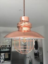 Fisherman's Pendant Light - Copper