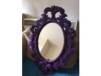 Purple Flocked Mirror