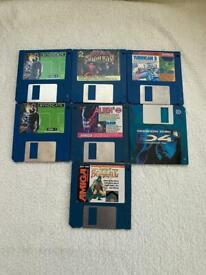 "Vintage Games Floppy disk 3.5"" demos"