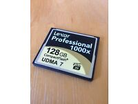 Lexar Professional 128GB 1000x Compact Flash Memory Card - 128 GB