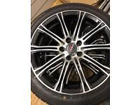 """Borbet 17"""" Alloys with Falken 215/45 r17 tyres."""