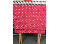 Single bed headboard in red spot Cath Kidston fabric