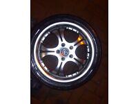 Wolfrace 235 45 R17 PRICED £175 Deep Dish Chrome Alloy Wheels Five stud X4