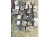 Reclaimed Granite Cobbles - grey. 26 cobbles in South London for collection.