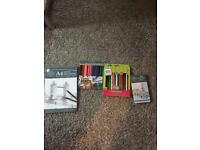 Art colouring pencils and book