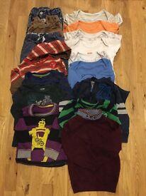 Baby boy clothes bundle 18-24m