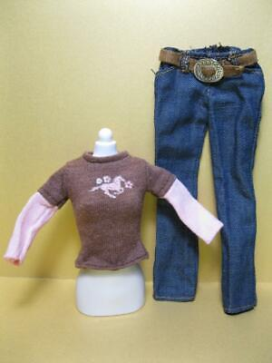 Barbie Doll HORSE RIDING Equestrian WESTERN DREAM Stable: PONY SHIRT/DENIM JEANS