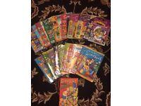Simpsons comics for sale.
