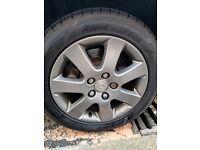 "Lexus IS200 16"" anthracite grey wheels alloys w/ tyres IS300"