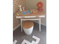 Made com mini stroller kids desk with Habitat storage stool - ex display as new
