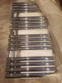 Polished silver bathroom radiator 1200 x 600