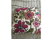 Pretty Cushions including feather filled pads. Nearly brand new John Lewis cushions x 2