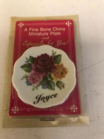 Very small plate fine bone china