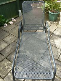 Kettler sunbed with cushion, metal can be left outside all year. Cost £275 new. Cushion costs £75