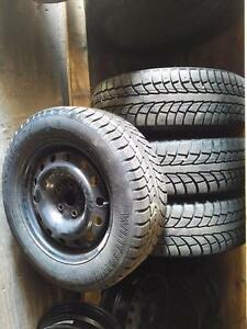 VOLKSWAGEN PASSAT CC WINTER TIRES AND RIMS FULL SET OF FOUR 215/60R/16 VW