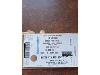 Ed Sheeran ticket 16th May Dublin £70