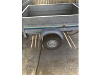 5 x 3 galvanised trailer with tilt action