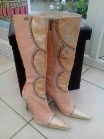 FAITH eldante heeled knee length boots size eu 38 uk 5