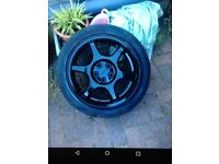 Subaru impreza alloy wheels with tyres