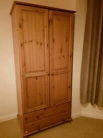 Double wood wardrobe