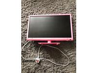 Pink 21 inch tv with DVD player
